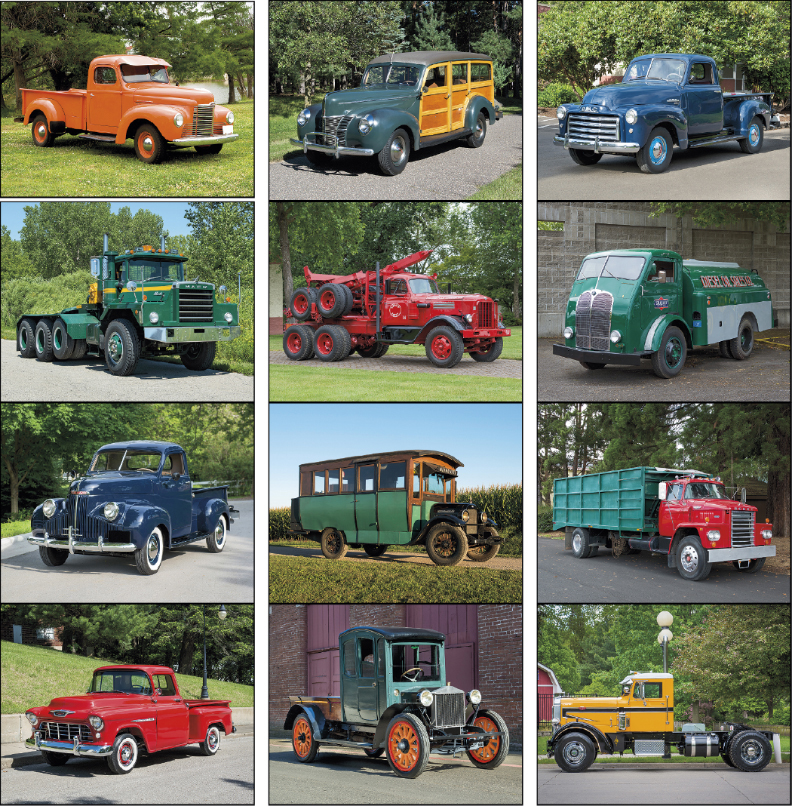 Custom Imprinted Calendar - Treasured Trucks #7237