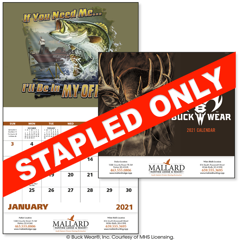 Custom Imprinted Calendar - Buck Wear #7270