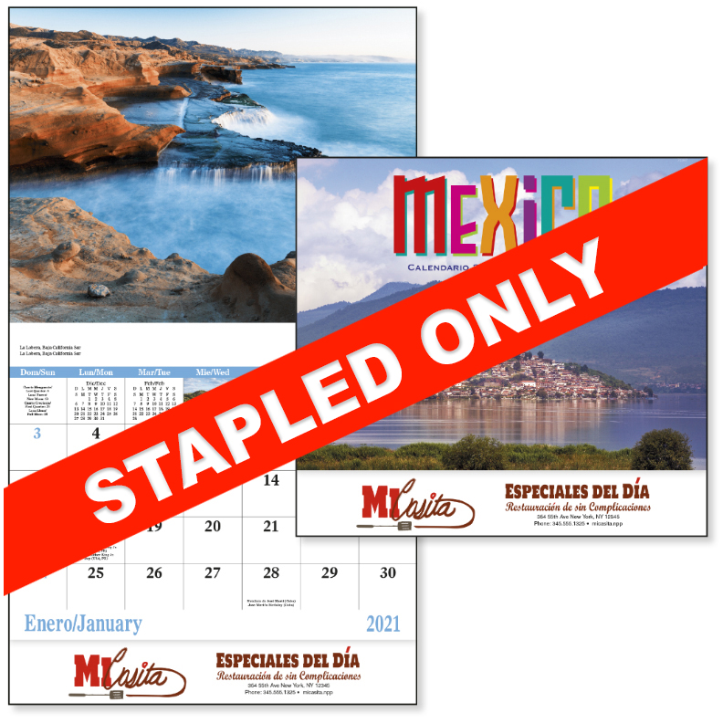 Custom Imprinted Calendar - Mexico #7287